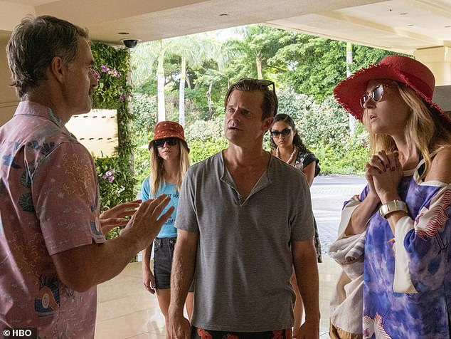 Dark satire: Fans can catch Connie on the hit HBO show The White Lotus, a series following the antics of vacationers and staff at a Hawaiian resort
