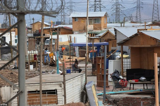 The settlements, made up of small wooden shacks with tin roofs, aren't far off from the conditions they faced in their homeland, but are still better than the squalid encampments they are staying in now in the US