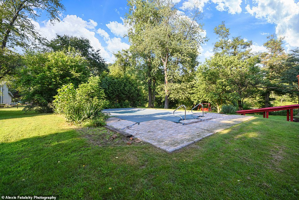 Waiting game: There is also an inground pool, but it won't be ready for use until next year.Up to eight guests can stay at the rental at a time, but parties and unauthorized visitors are not allowed