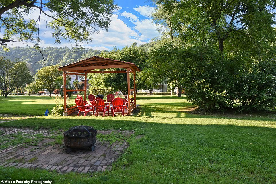 Spooky season: Near the gazebo is a fire pit where guests can make 'smores and tell ghost stories