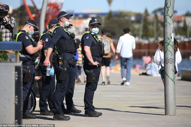 A spokesperson for Victorian Police has stated there will be a continued visible presence of police throughout the city (pictured)