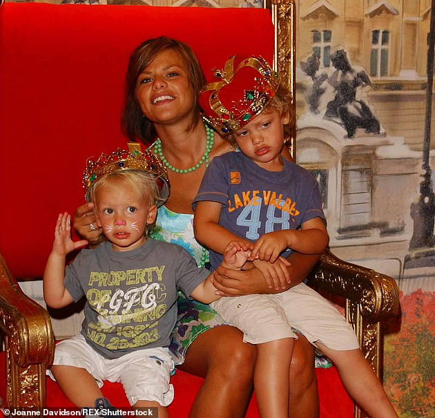 Sweet: Bobby bears a striking resemblance to his late mother Jade, who died in 2009 at the age of 27 following a battle with cervical cancer (pictured with Jade and her brother Freddie in 2006)