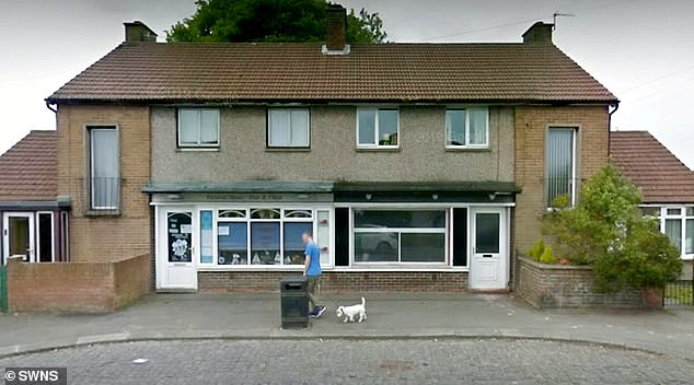 A street view showing the chip shop and neighbouring property before the fence was erected. Following the complaints, council chiefs are now investigating if the fence is legal