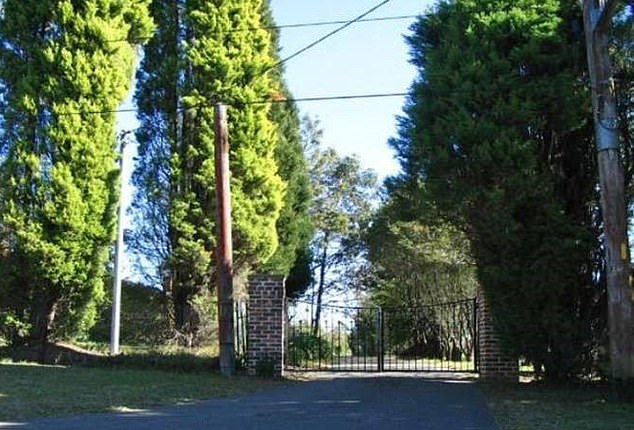 The victim ran down the 200m-long driveway (pictured) screaming and a neighbour came out but Callaghan drove up alongside and told her he would drive her home