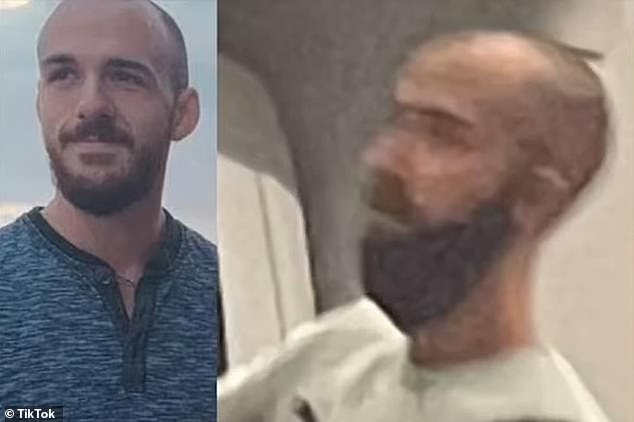 Anamateur sleuth snapped a photo of man she believed to be Laundrie in Canada, as he exited a Toronto hotel appearing 'flustered'