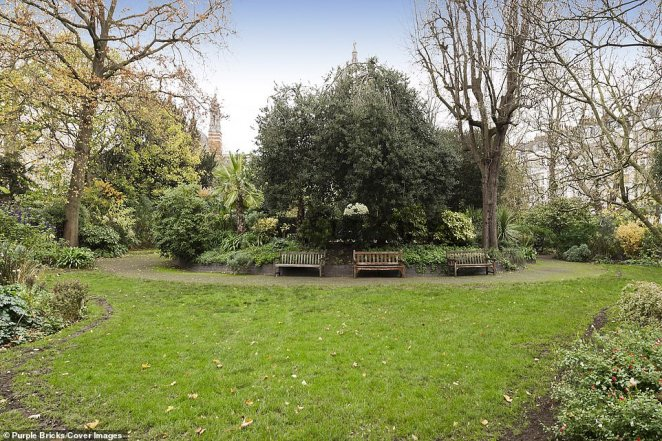 The government of the late 1800s stopped the Metropolitan Railway Company from building an entrance to South Kensington tube station in Thurloe Square, leaving space for the so-called 'Thin House' - which backs onto the picturesque Thurloe gardens (pictured)