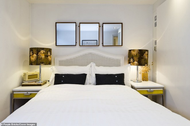 The home manages to squeeze in two double bedrooms and is just a two minutes' walk from South Kensington Tube station