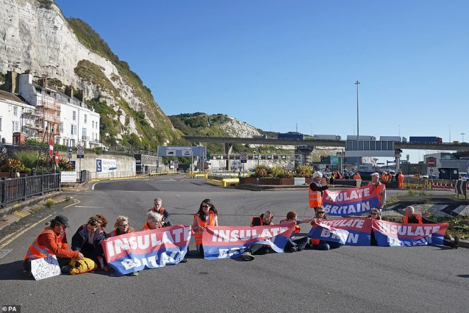 In a particularly unhelpful addition to the problem, eco-mob Insulate Britain returned to the roads today to block off a route to Port of Dover - Europe's busiest port and the UK's main gateway for trade from the EU
