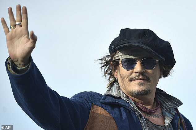 Depp said: 'The beauty of Captain Jack Sparrow for me is that I can travel with Captain Jack in a box, literally Captain Jack in a box...'