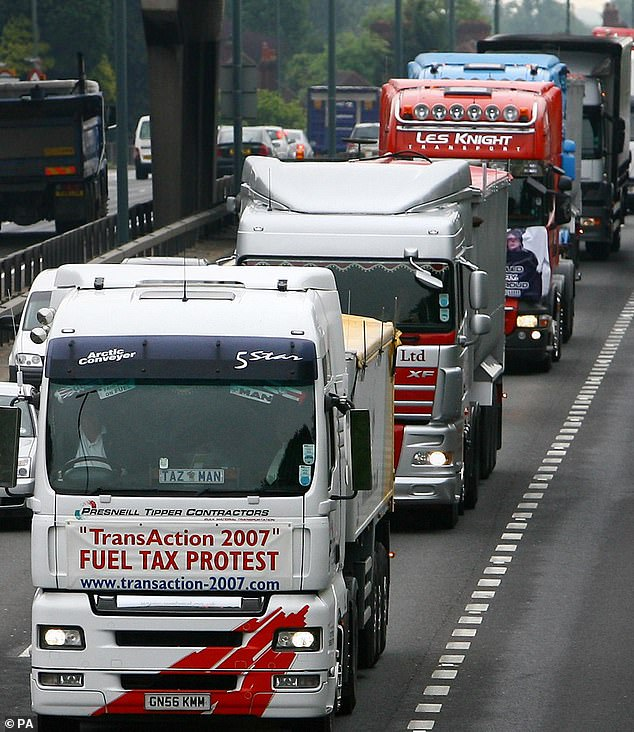It comes amid worry that Britain will be faced with a 'winter of discontent' characterised by severe food shortages due to a lack of lorry drivers and an ongoing energy crisis