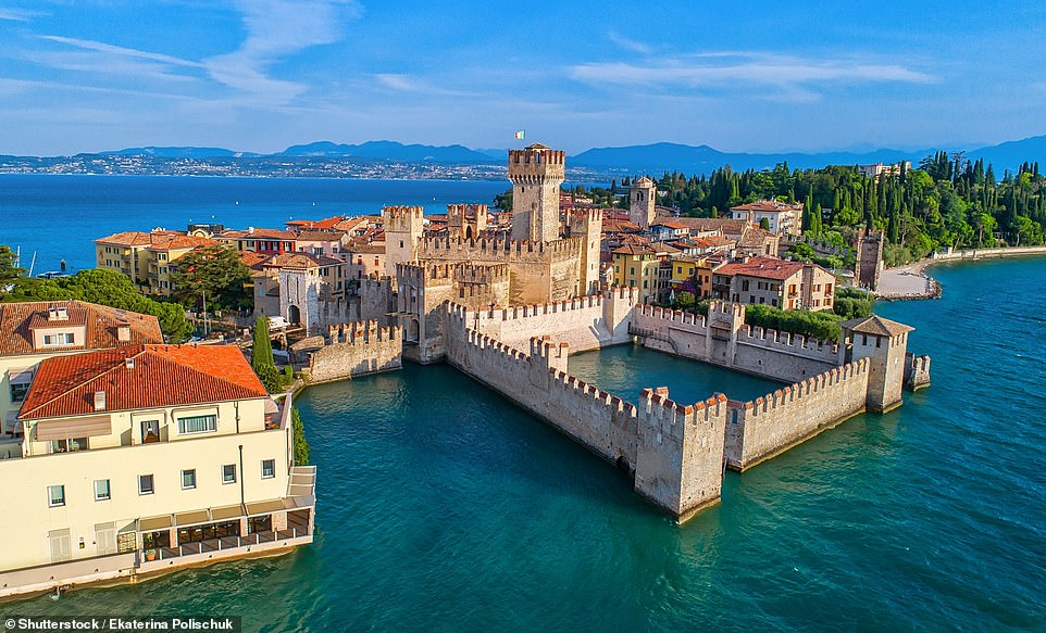 Mark says Sirmione, pictured above, is 'the prettiest of the Garda villages' and 'has a perfect fortress and ramparts'