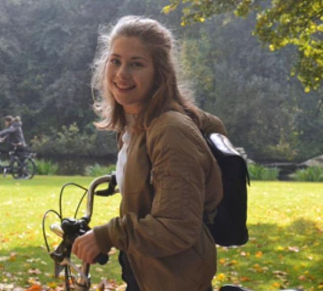 Officer Cadet Olivia Perks, 21 (pictured) took her own life at Sandhurst Military Academy in Berkshire in February 2019 after 'an affair with an older male instructor'.