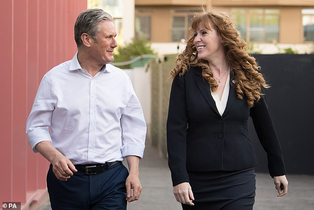 Uneasy alliance: Keir Starmer's first proper conference as Labour leader this weekend risks being overshadowed by his unpopular attempt to rewrite internal rules as his deputy Angela Rayner (pictured together) also opposes it