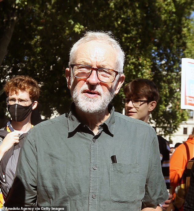 Sir Keir also faced dire warnings from his predecessor, Jeremy Corbyn (pictured),who is still suspended from the Parliamentary Labour Party over anti-Semitism