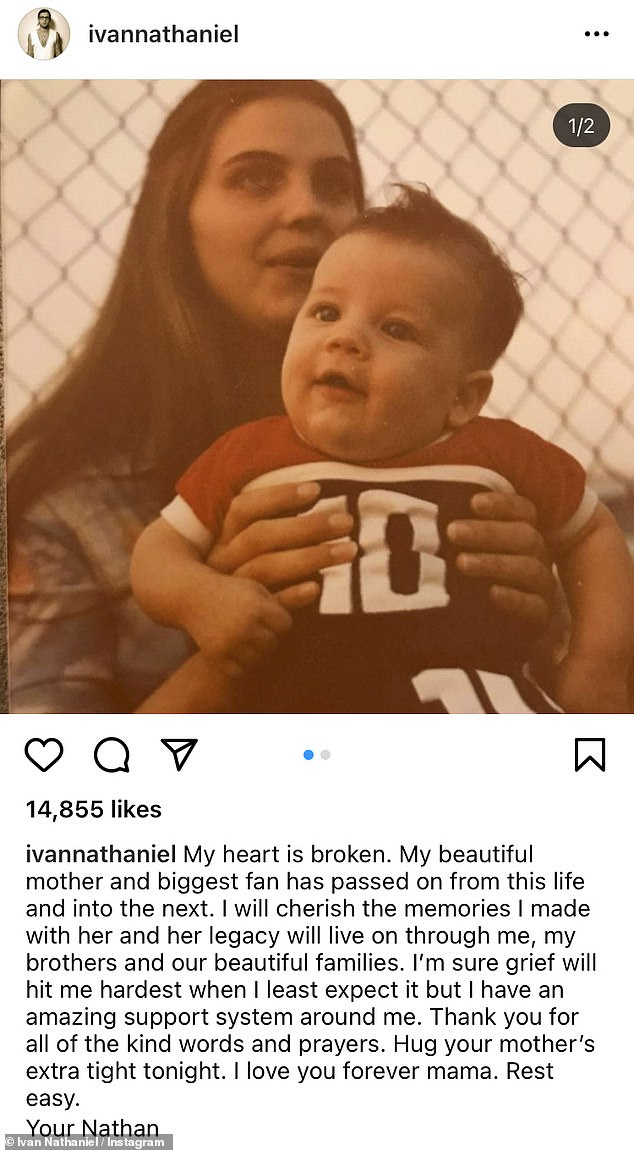 Family tragedy: The oldest of the three Followill brothers Nathan, 42, shared how his 'heart if broken' following the passing of his mother