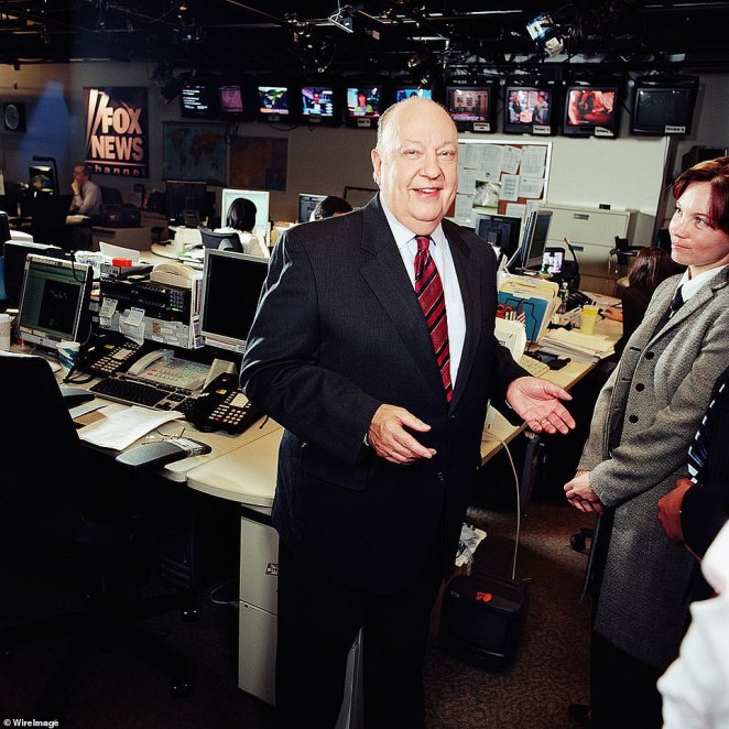 Ross has spoken out in the past to claim she was sexually harassed by disgraced former Fox News chairman-CEO Roger Ailes (pictured)