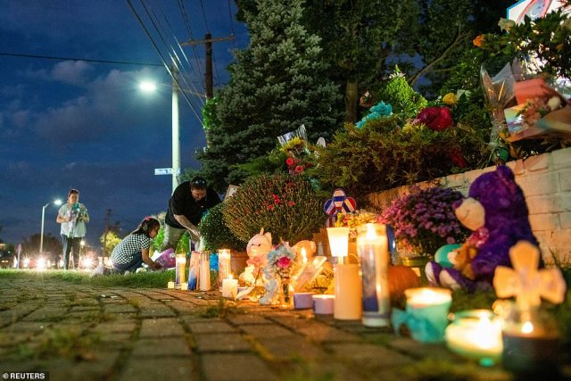 The memorial sites showed off candles, cards, posters, stuffed animals and flowers dedicated to the late Peitio
