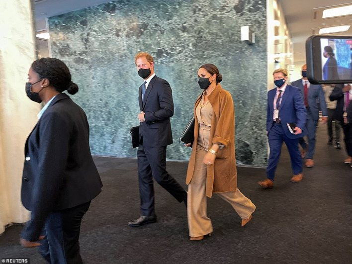 Meghan Markle and Prince Harry visited the United Nations to meet with UN Secretary-General Antonio Guterres