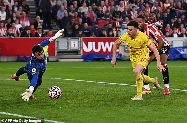 David Raja made some strong saves to deny Liverpool further goals on Saturday evening