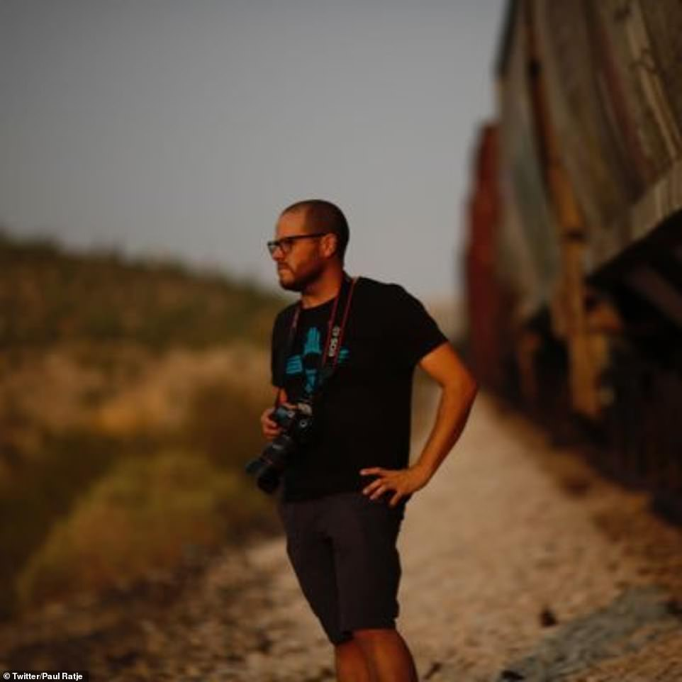 Photographer Paul Ratje (above) says that he did not witness whipping at the border