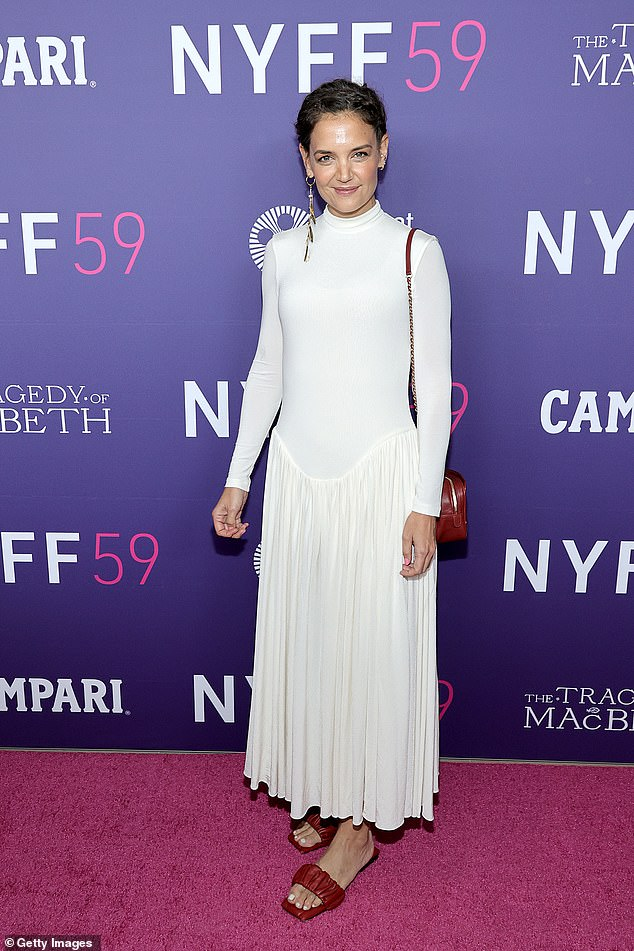 Red carpet regular: The actress attended the New York Film Festival as the event kicked off with a screening of The Tragedy of Macbeth on September 24