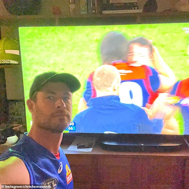 Sweet:Hollywood actor Chris Hemsworth has offered a classy response following the loss of his beloved Western Bulldogs during the AFL grand final