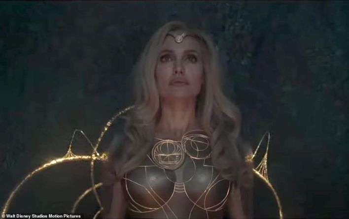 Hitting US/UK theaters on November 5! The former Hollywood wild child will next play fierce warrior Thena, who can form any weapon out of cosmic energy, in Marvel Comics flick Eternals