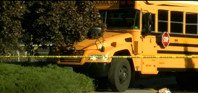 A school bus driver was stabbed by an assailant as young children on boar witnessed the attack