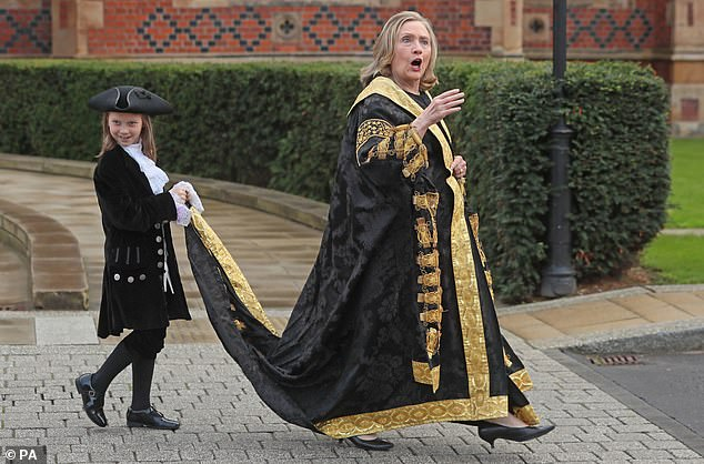Hilary Clinton was appointed in January 2020, but has not been able to visit the university in that capacity due to the coronavirus pandemic