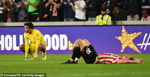 Trent Alexander-Arnold was exposed defensively once again in Liverpool's 3-3 tie at Brentford