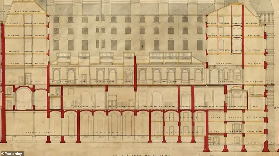 A fascinating diagram revealed in the programme shows how Charing Cross is built above a network of support structures