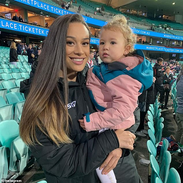 Active lifestyle: Natalie also played rugby union for the University of Sydney women's team and tried her hand at sports modeling