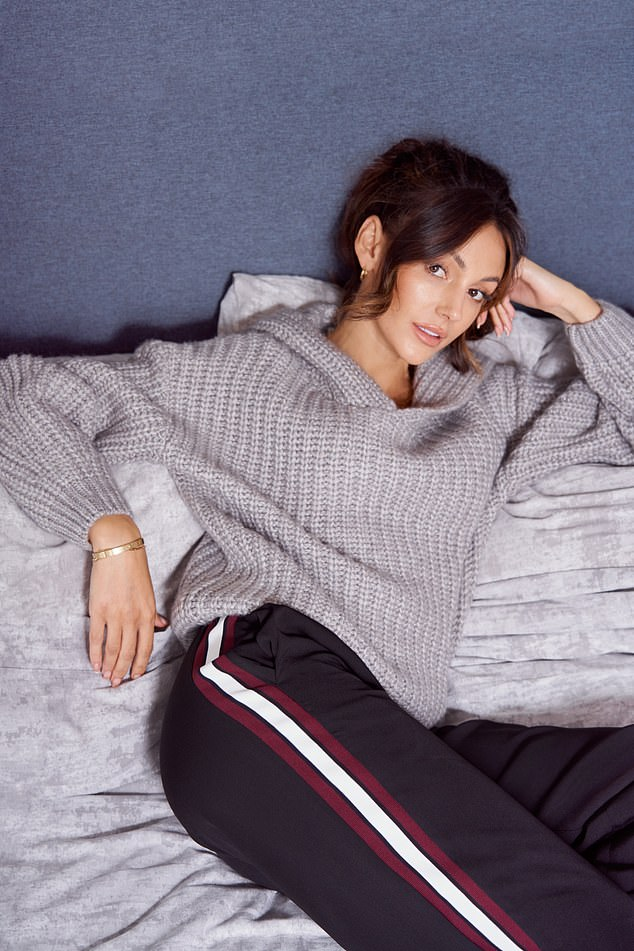 Tilt: Comfortable knitwear also looked great with stylish black pants