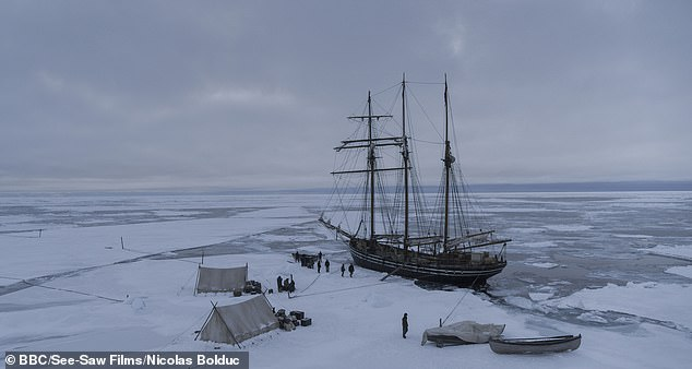 The BBC series The North Water is set around a whaling expedition to the Arctic, with lots of snow sightings