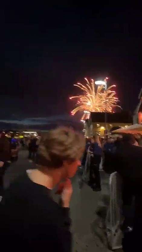 Fireworks were set off in Stavanger, a town on the west coast, on Saturday night after the prime minister lifted the lockdown rules