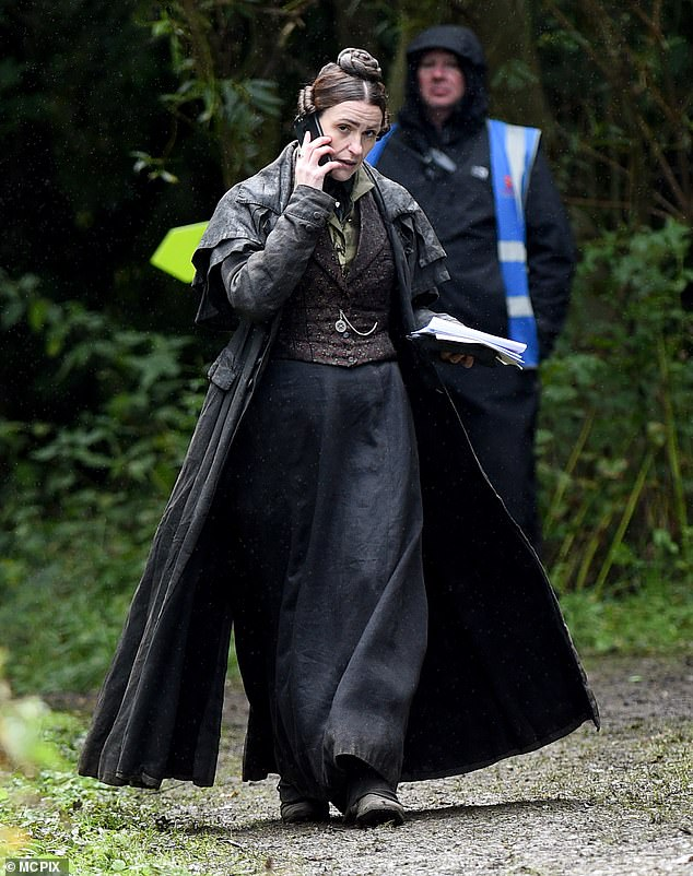 Through the Jungle: Surne wore a long black skirt with several overcoats as she walked through the woods on camera