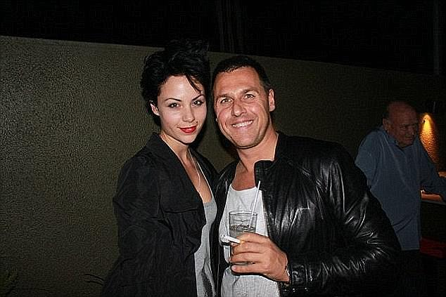 Phoebe Handsjuk (left) was found dead on the ground floor after tumbling 12 storeys in a luxury high-rise apartment in Melbourne where she lived with her older boyfriend Antony Hampel (right)