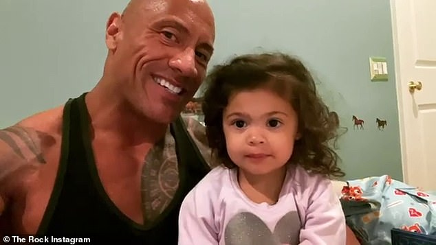 Proud dad:The former professional wrestler regularly features his daughters on his Instagram page and shares moments from his life as dad