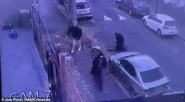 The mugging is believed to have taken place on a residential street in East Ham and the video was shared to Twitter on Saturday, September 25