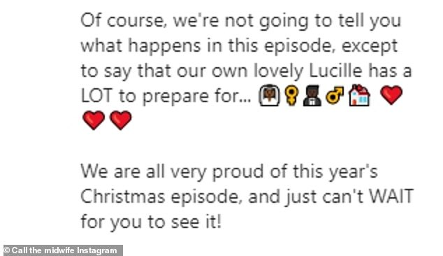 We are back: The official Call the Midwife Instagram page shared this message on Friday, posting the official poster for the show