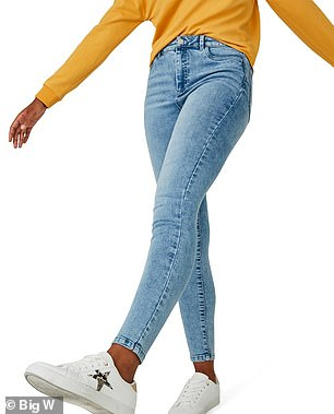 Available in light wash and indigo, the jeans are made from a soft, stretchy denim that moulds to the body, enhancing it in all the right places