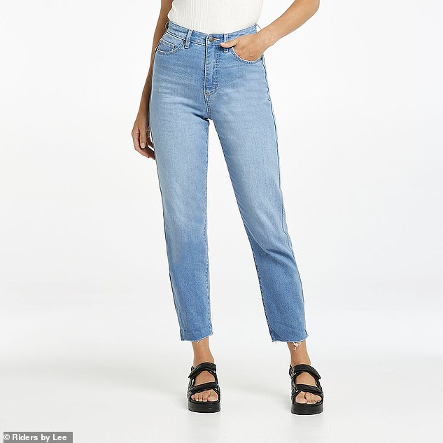 Because it is a 'passing' trend, Donny says there is no need to spend hundreds of dollars on designer 'mum' jeans; he recommends this $89.99 pair from Lee