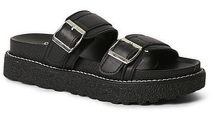 Save:Big W's $20 slides (pictured) are almost identical to this season's hottest designer shoe