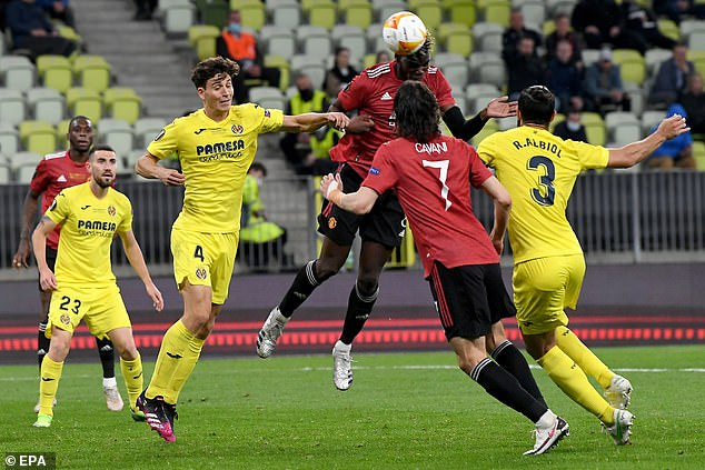 United now face a reunion with Villarreal, who beat them in May's Europa League final (above)
