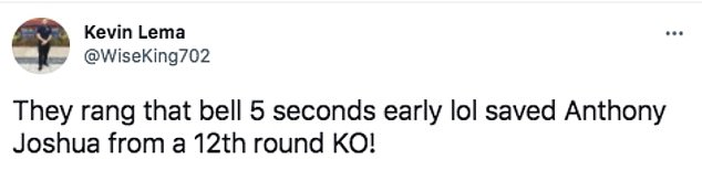 Boxing fans on social media believe the 12th round bell rang too early on Saturday night