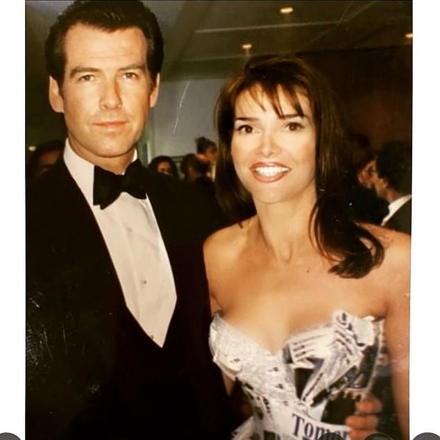 He caught me in his trailer ':!  Lizzie Cundy revealed the embarrassing moment former Bond Pierce Brosnan found her using her toothbrush on the set of Tomorrow Never Dies alongside a hilarious snapshot taken in 1997