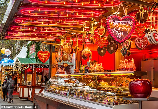 The Christmas market in Amsterdam (pictured) is just one of the festive stops on the'Northern Europe Christmas Markets' tour