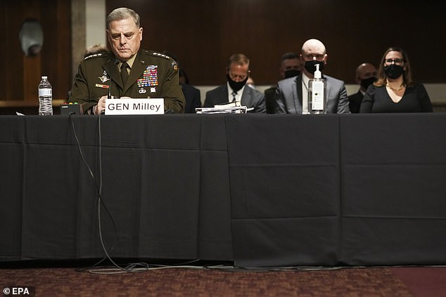 Gen. Mark Milley, chairman of the Joint Chiefs of Staff, told senators on Tuesday that U.S. standing had been damaged by President Biden's withdrawal from Afghanistan