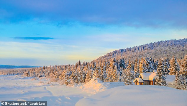 The Swedish town of Kiruna, pictured, is near the ice hotel and has plenty of cross-country skiing and snowmobiling routes