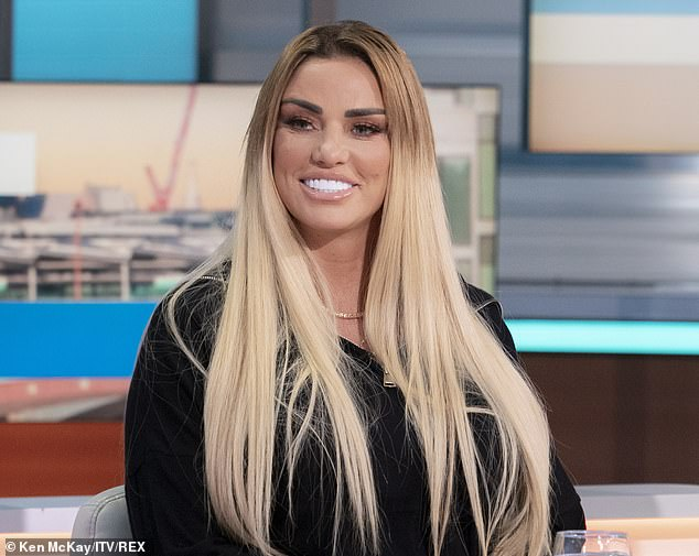 Troubled: Katie Price's family has put out an emotional statement rallying around the troubled star, saying they are 'concerned' for her wellbeing (pictured on Monday)